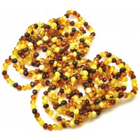 Lot of 20 multicolor baroque beads Baltic amber bracelets