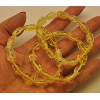 Lot of 3 lemon olive shape amber bracelets