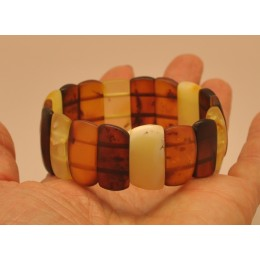 Unpolished Baltic amber bracelet