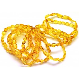 10 Honey beans shape amber bracelets