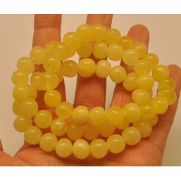 Lot of 3 yellow  baroque beads Baltic amber  bracelets