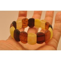 Classic unpolished Baltic amber bracelet