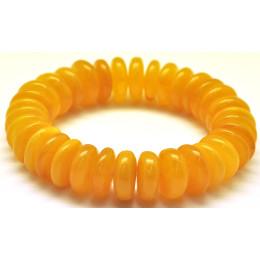 Antique  Baltic amber elastic bracelet