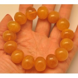 Antique color baroque beads amber bracelet