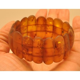 Classic cognac unpolished Baltic amber bracelet