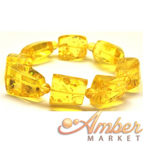 Faceted  beads Baltic amber bracelet