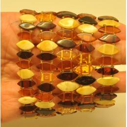 Lot of 5 elastic amber bracelets