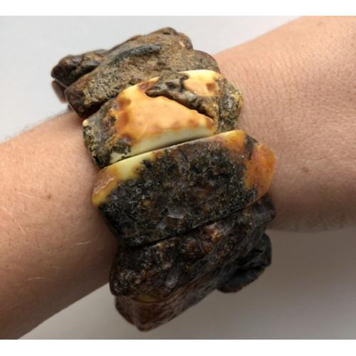 Raw healing Baltic amber bracelet