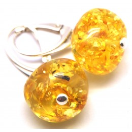 Baroque beads Baltic amber earrings