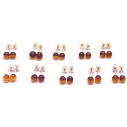 Lot of 10 round beads Baltic amber earrings