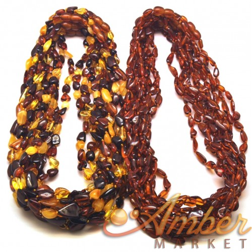 20 Baltic amber beans necklaces for adults