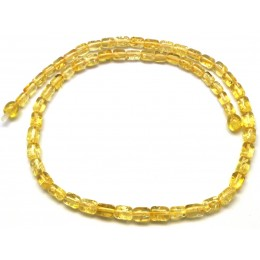 Greek style lemon  amber necklace