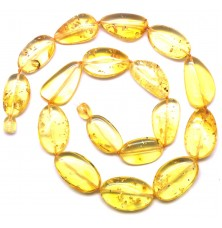 Big beads lemon Baltic amber short necklace
