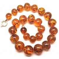 Cognac baroque beads Baltic amber necklace