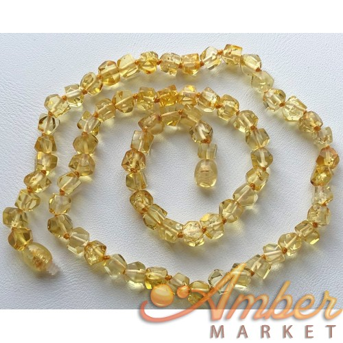 Short faceted amber necklace
