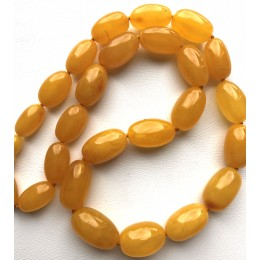 Olive Shape Beads Genuine BALTIC AMBER Necklace