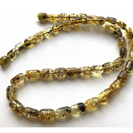 Greek style green amber necklace
