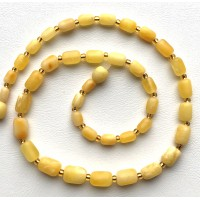 Natural Amber Bead Necklace For Women