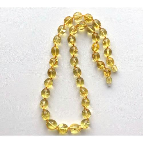Olive shape Baltic amber necklace