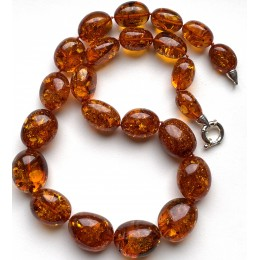 Big Baltic Amber Beads Necklace 109 g.