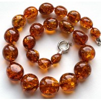 Big Baltic Amber Beads Necklace 83 g.