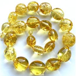 Big Beads Lemon Amber Necklace 70g.