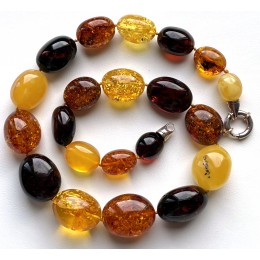 Massive Baltic Amber Beads Necklace 83 g