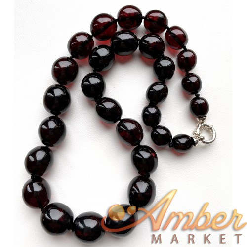 Natural Cherry Amber Olive Beads Necklace 54g