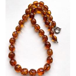 Olive Shape BALTIC AMBER Necklace 30g