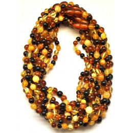Lot of 10 Round beads Baltic amber teething necklaces
