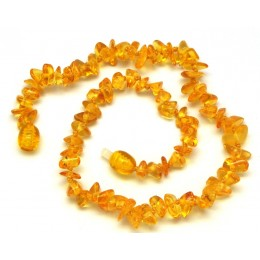 Lemon Baltic amber chip teething necklace