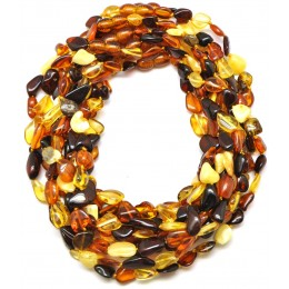 Lot of 10 beans shape Baltic amber teething necklaces