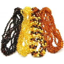 Lot of 20 Baroque beads Baltic amber teething necklaces