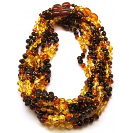 10 Rainbow Baroque beads Baltic amber teething necklaces