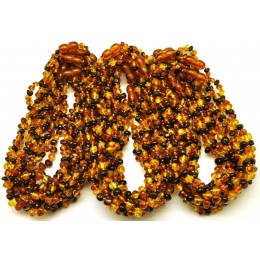 30 Multicolor Baroque beads Baltic amber teething necklaces