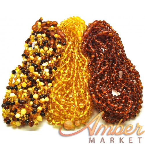 Lot of 30 baroque beads Baltic amber teething necklaces