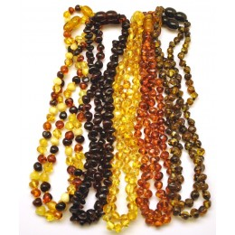 Lot of 10 Baroque beads Baltic amber teething necklaces