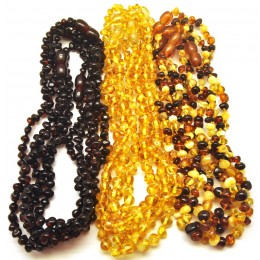 Lot of 15 Baroque beads Baltic amber teething necklaces