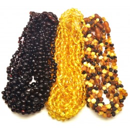 Lot of 27 Baroque beads Baltic amber teething necklaces