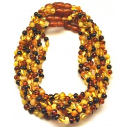 10 Multicolor baroque beads Baltic amber teething necklaces