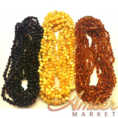 Lot of 30 baroque beads amber teething necklaces