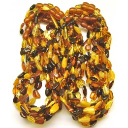 Lot of 20 beans amber teething necklaces