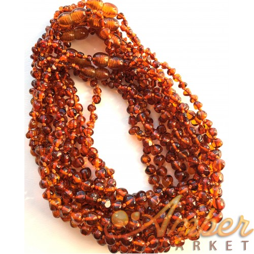 Lot of 10 Baby Children Genuine BALTIC AMBER Baroque Necklaces