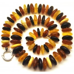 Unpolished Baltic amber necklace