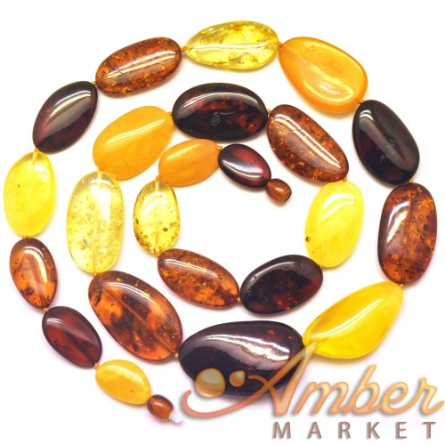 Big beads Baltic amber long necklace