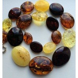 Massive long amber necklace 201 g