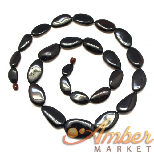 Big beads cherry Baltic amber  long necklace