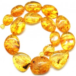 Massive big beads Baltic amber necklace