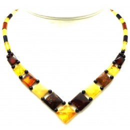 Multicolor  Baltic amber choker