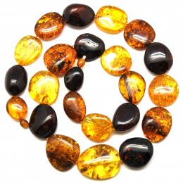 Big beads Baltic amber long necklace 112 g .